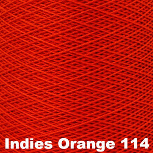 3/2 Mercerized Perle Cotton-Weaving Cones-Indies Orange 114-