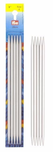 "INOX 12"" Aluminum Double Point Knitting Needles-Knitting Needles-US0 (2mm)-"