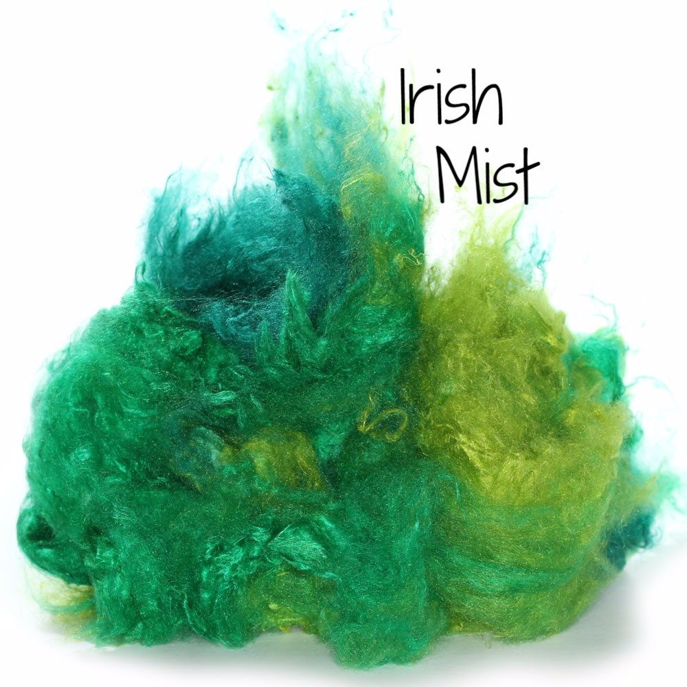 Camaj Hand Dyed Mulberry Silk Cloud- Soffsilk® Irish Mist / 1oz - 8