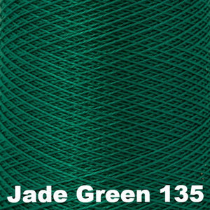 3/2 Mercerized Perle Cotton-Weaving Cones-Jade Green 135-