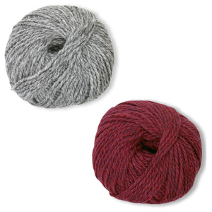Humboldt Hallows Mittens Kit in Shetland Heather-Kits-Bleeding Heart-