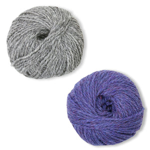 Humboldt Hallows Mittens Kit in Shetland Heather-Kits-Deep Purple-
