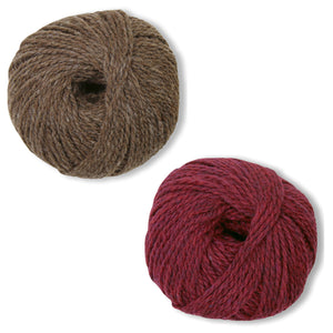 Humboldt Hallows Mittens Kit in Shetland Heather-Kits-Deep Red-
