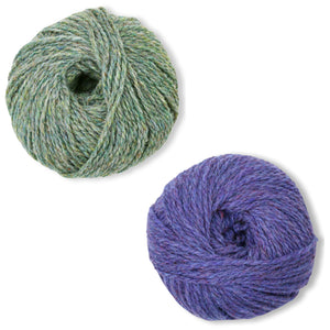 Humboldt Hallows Mittens Kit in Shetland Heather-Kits-Pansies-