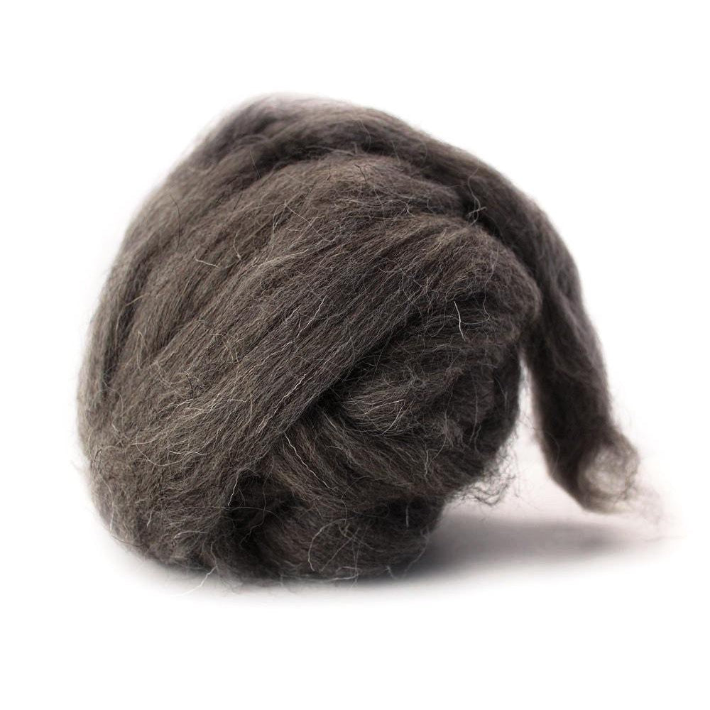 Louet Grey Karakul Wool Top (1/2 lb bag)