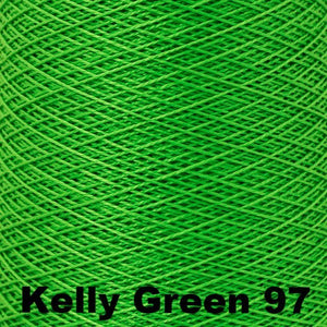 3/2 Mercerized Perle Cotton-Weaving Cones-Kelly Green 97-
