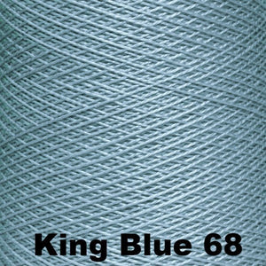 3/2 Mercerized Perle Cotton-Weaving Cones-King Blue 68-