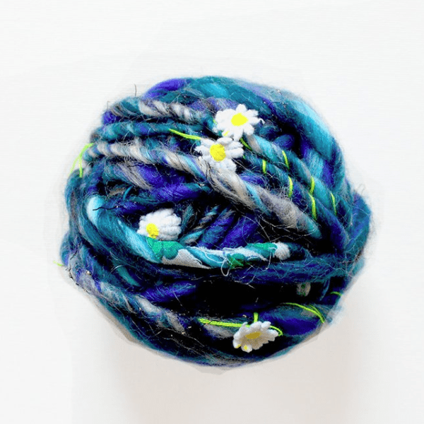 Paradise Fibers Knit Collage Daisy Chain Yarn - Blue Jay - 1