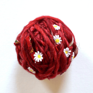 Paradise Fibers Knit Collage Daisy Chain Yarn - Chili Pepper - 1