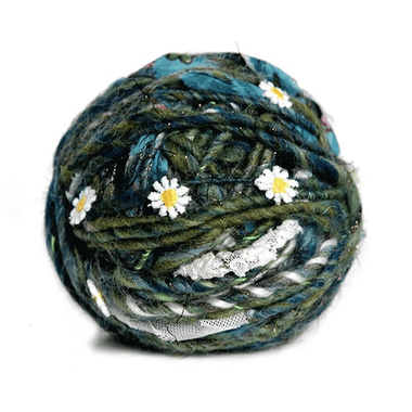 Paradise Fibers Knit Collage Daisy Chain Yarn - Grasshopper - 1