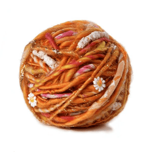Paradise Fibers Knit Collage Daisy Chain Yarn - Sweet Papaya - 1