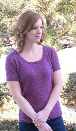 Knitting Pure & Simple Top Down Lightweight T Shirt Pattern
