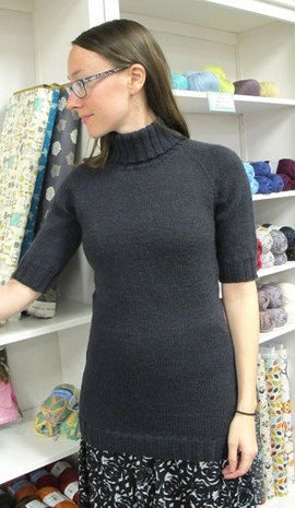 Knitting Pure & Simple Short Sleeved Turtleneck Pullover Pattern