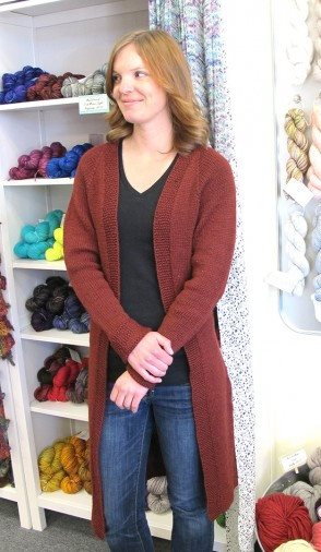 Knitting Pure & Simple Top Down Long Open Cardigan Pattern