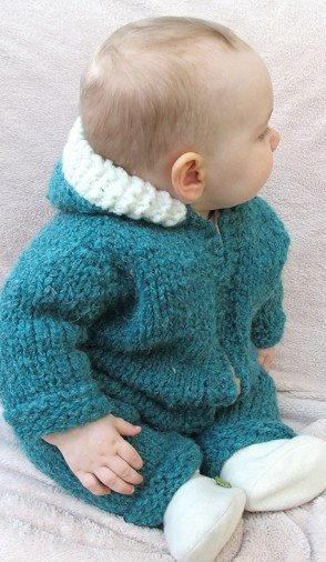 Knitting Pure & Simple Superbulky Baby One Piece Suit or Jacket Pattern