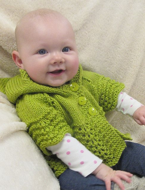 Knitting Pure & Simple Lacy Baby Hoodie Pattern