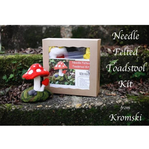 Kromski Needle Felting Kit - Toadstool-Needle Felting Kit-Paradise Fibers