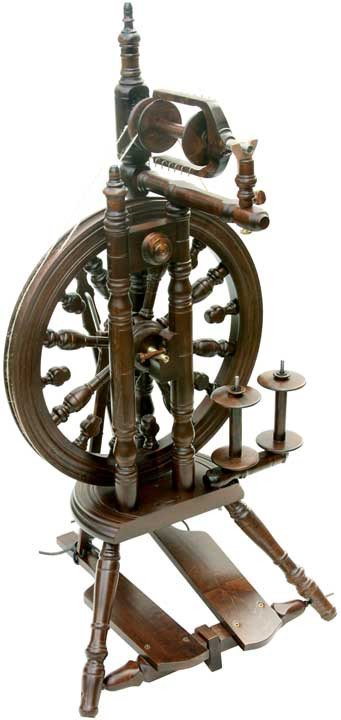 Paradise Fibers Spinning Wheel Kromski Minstrel Spinning Wheel Walnut - 1