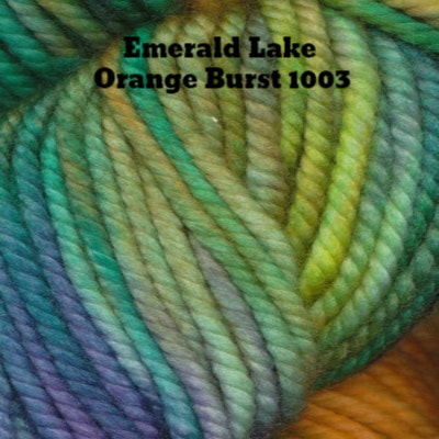 Ella Rae Lace Merino Aran Yarn Emerald Lake Orange Burst 1003 - 3