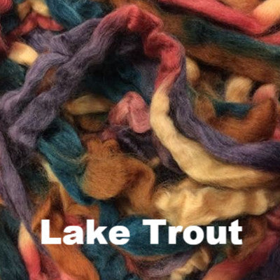 Louet Northern Lights Space Dyed Wool Tops (1/2 lb bags) Lake Trout - 18