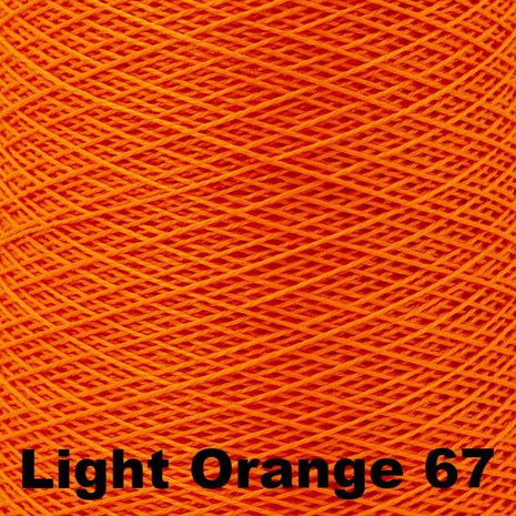 10/2 Perle Cotton 1lb Cones Light Orange 67 - 56