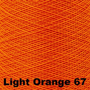 3/2 Mercerized Perle Cotton-Weaving Cones-Light Orange 67-