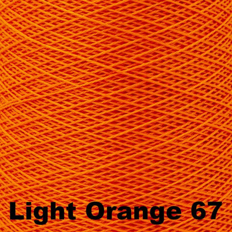 5/2 Perle Cotton 1lb Cones Light Orange 67 - 56