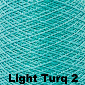 3/2 Mercerized Perle Cotton-Weaving Cones-Light Turq 2-