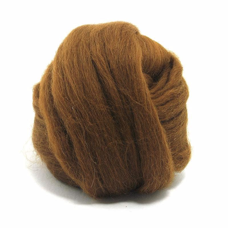 Paradise Fibers Baby Alpaca Roving Light Brown / 4oz - 4
