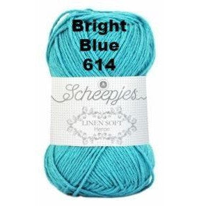 Scheepjes Linen Soft Bright Blue 614 - 15