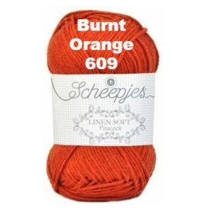 Scheepjes Linen Soft Burnt Orange 609 - 10