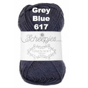 Scheepjes Linen Soft Grey Blue 617 - 18