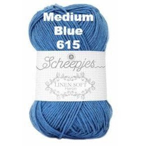 Scheepjes Linen Soft Medium Blue 615 - 16