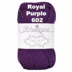 Scheepjes Linen Soft Royal Purple 602 - 3