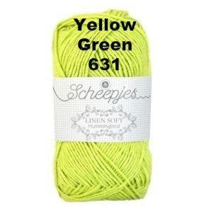 Scheepjes Linen Soft Yellow Green 631 - 32