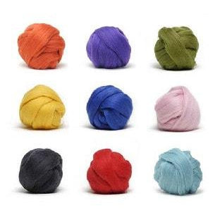 Louet Dyed Corriedale Top (1/2 lb bags)  - 1