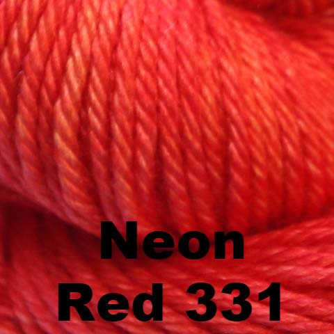 Madelinetosh Silk Merino Yarn Neon Red 331 - 25