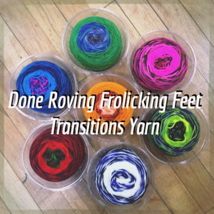 Done Roving Frolicking Feet Transitions Yarn  - 1