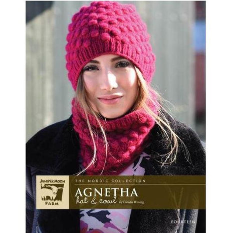 Juniper Moon Farm Fourteen Agnetha Hat & Cowl Kit-Kits-Paradise Fibers