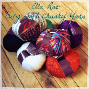 Ella Rae Cozy Soft Chunky Yarn-Yarn-White Rocking Sheep 201-