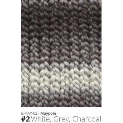 Euro Baby Maypole Yarn White Grey Charcoal 02 - 3