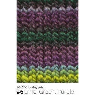 Euro Baby Maypole Yarn Lime Green Purple 06 - 6