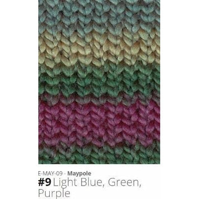 Euro Baby Maypole Yarn Light Blue Green Purple 09 - 8