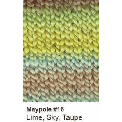 Euro Baby Maypole Yarn Lime Sky Taupe 16 DISC - 13