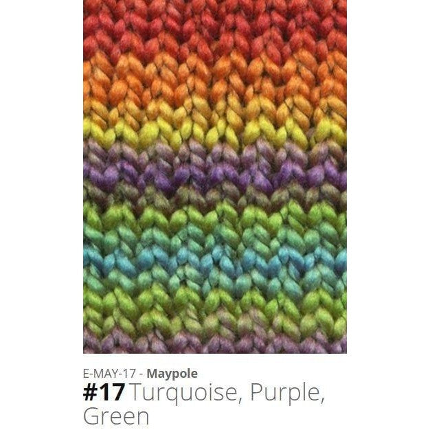 Euro Baby Maypole Yarn Turquoise Purple Green 17 - 14