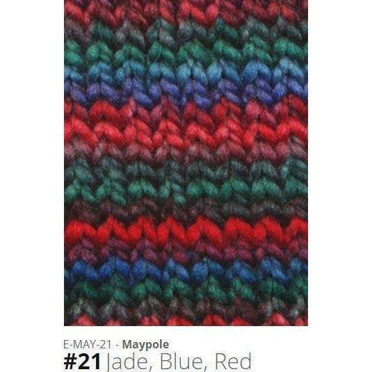 Euro Baby Maypole Yarn Jade Blue Red 21 - 16