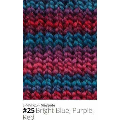 Euro Baby Maypole Yarn Bright Blue Purple Red 25 - 20