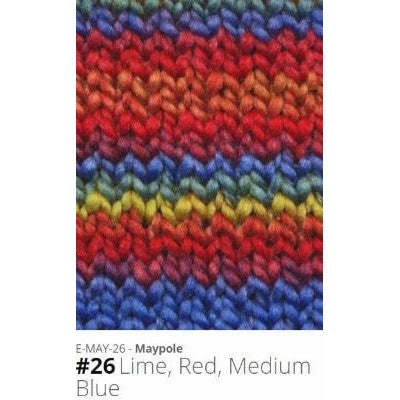 Euro Baby Maypole Yarn Lime Red Medium Blue 26 - 21