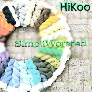 HiKoo SimpliWorsted Yarn-Yarn-White 01-