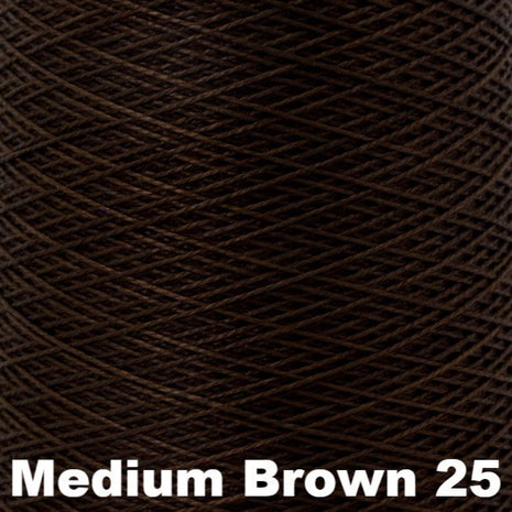 5/2 Perle Cotton 1lb Cones Medium Brown 25 - 63